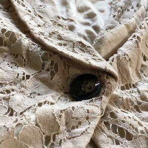 stooshy Ivory women's  Lace Blazer.